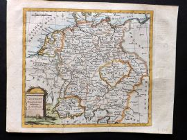 Guthrie & Kitchen C1780 Hand Col Map. Germany drawn from the latest authorities